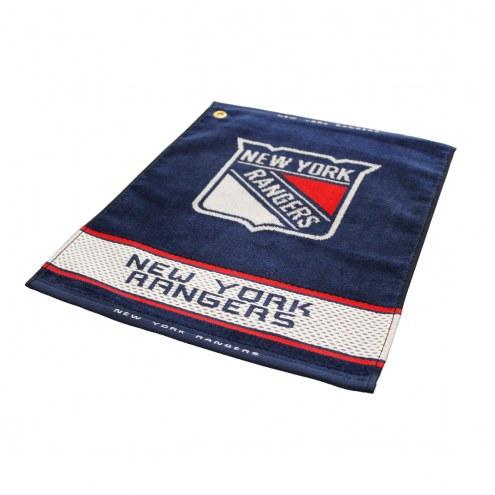 New York Rangers Woven Golf Towel