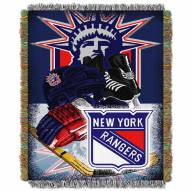New York Rangers Woven Tapestry Throw Blanket