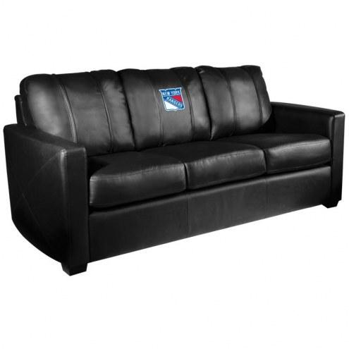 New York Rangers XZipit Silver Sofa