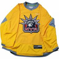 New York Rangers Yellow Issued Liberty Practice Jersey (Size 58+)