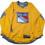 New York Rangers Yellow Issued Shield Practice Jersey (Size 56)
