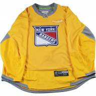 New York Rangers Yellow Used Shield Logo Practice Jersey (Size 58)