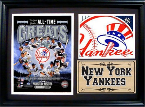 "New York Yankees 12"" x 18"" Greats Photo Stat Frame"