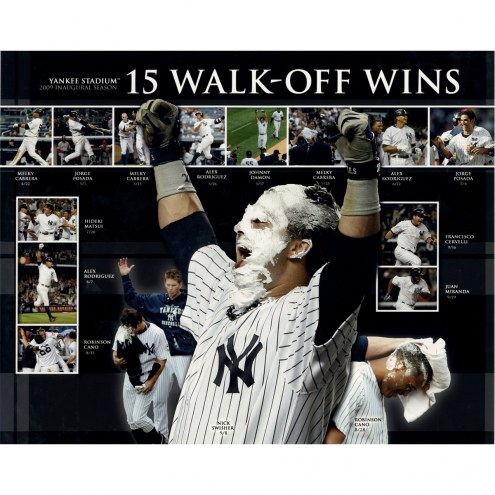 "New York Yankees 15 Walk-Off Wins Collage Signed 16"" x 20"" Photo"