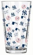 New York Yankees 16 oz. All Over Print Pint Glass
