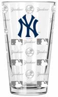 New York Yankees 16 oz. Sandblasted Pint Glass