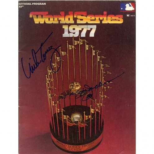 New York Yankees 1977 World Series Team Signed Program 46 Sigs