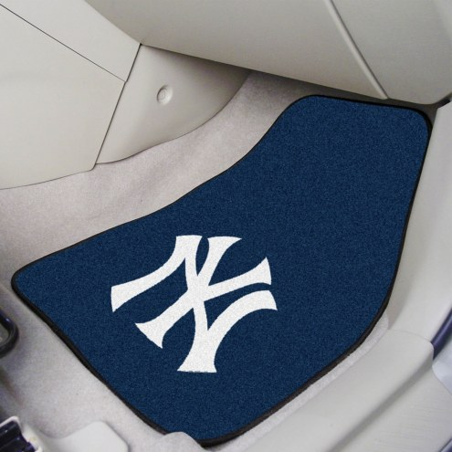 New York Yankees 2-Piece Carpet Car Mats