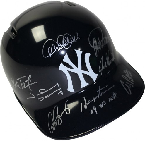 New York Yankees 2009 Multi Signed Helmet (8 Signatures)