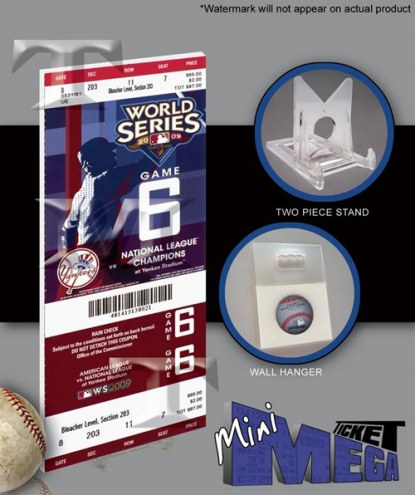 New York Yankees 2009 World Series Game 6 Mini Mega Ticket