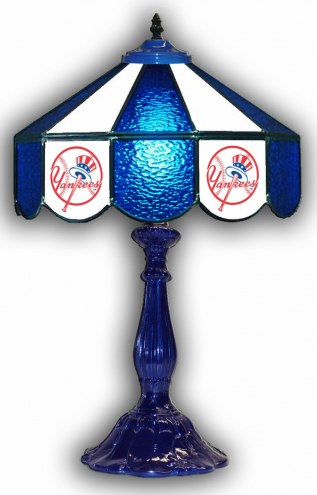"New York Yankees 21"" Glass Table Lamp"