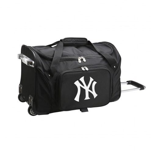"""New York Yankees 22"""" Rolling Duffle Bag"""