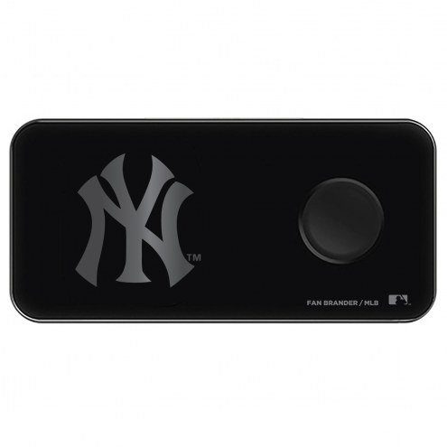 New York Yankees 3 in 1 Glass Wireless Charge Pad