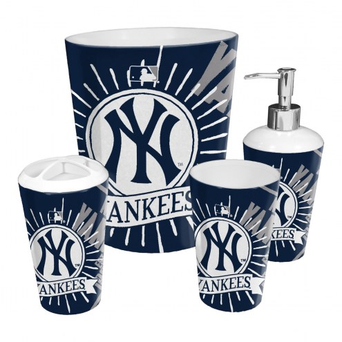 New York Yankees 4-Piece Bath Set