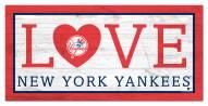 "New York Yankees 6"" x 12"" Love Sign"