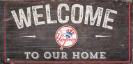"""New York Yankees 6"""" x 12"""" Welcome Sign"""