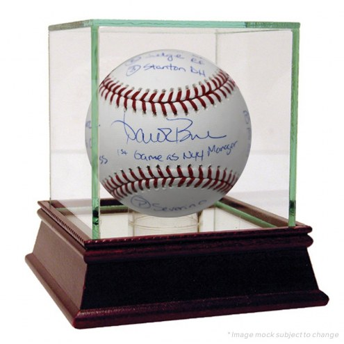 New York Yankees Aaron Boone Signed MLB Baseball with 2018 Opening Day Lineup Inscriptions