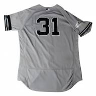 New York Yankees Aaron Hicks Signed 2017 ALCS Game Used #31 Grey Jersey 10/13-10/21/17