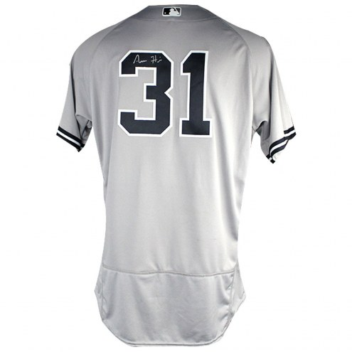 New York Yankees Aaron Hicks Signed 2018 Road Opening Day Game Used #31 Jersey (3/29/2018)