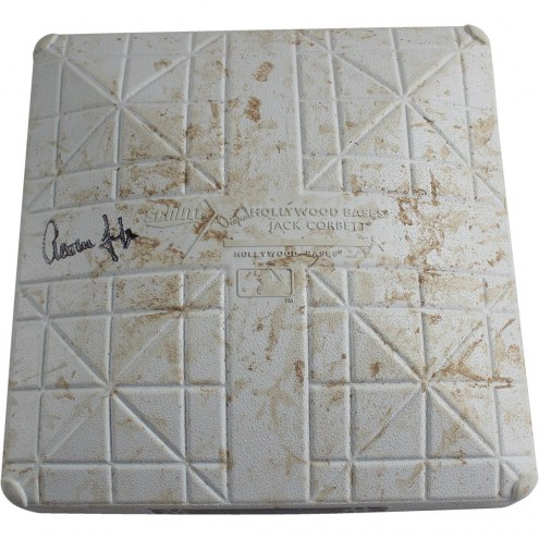New York Yankees Aaron Judge Signed Brewers at Yankees 7-7-2017 Game Used Third Base