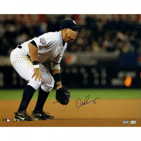 "New York Yankees Alex Rodriguez 2009 WS Fielding Signed 16"" x 20"" Photo"