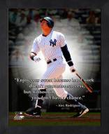 New York Yankees Alex Rodriguez Framed Pro Quote