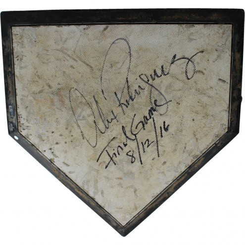 New York Yankees Alex Rodriguez Signed Game Used Home Plate w/ Final Game 8/12/2016