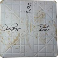 """New York Yankees Alex Rodriguez Signed Rays at Yankees 8-12-2016 Game Used Third Base w/ """"Final Game  8/12/2016"""" (Bottom of 4th Inn)"""