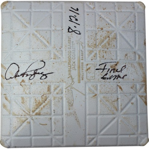 """New York Yankees Alex Rodriguez Signed Rays at Yankees 8-12-2016 Game Used Second Base w/ """"Final Game  8/12/2016"""" (Bottom of 2nd Inn)"""