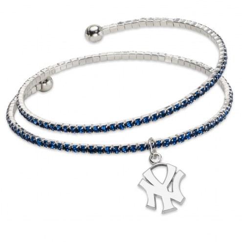 New York Yankees Amped Logo Crystal Bracelet