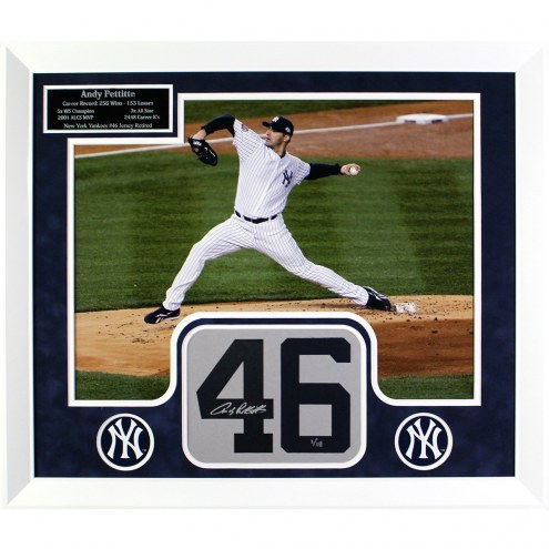 New York Yankees Andy Pettitte Elite Framed and Signed Number Collage