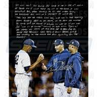 """New York Yankees Andy Pettitte Farewell Mariano Rivera Story Signed 16"""" x 20"""" Photo"""