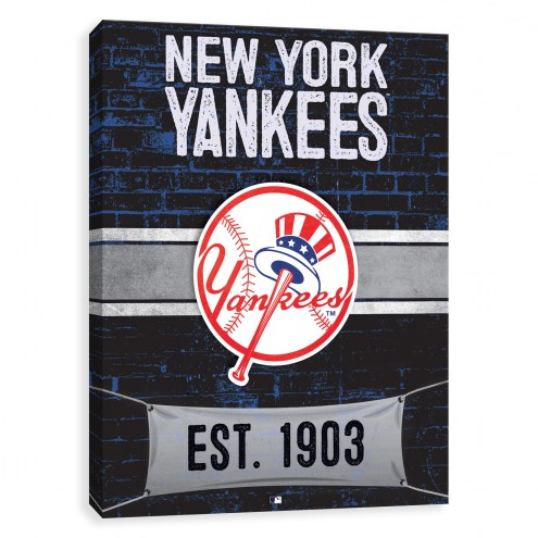 New York Yankees Brickyard Printed Canvas