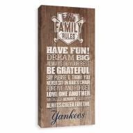 New York Yankees Family Rules Icon Wood Printed Canvas