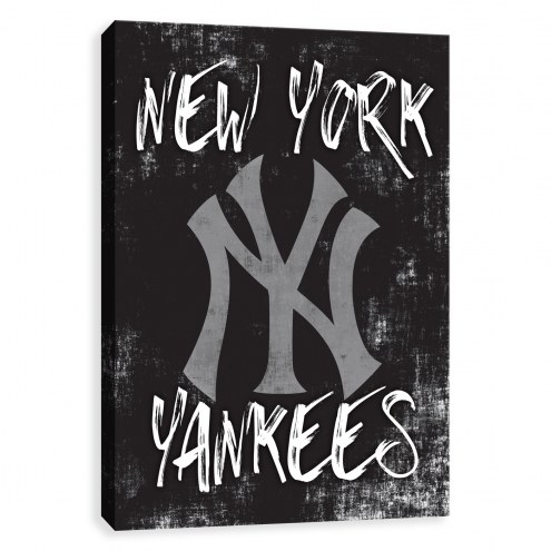 New York Yankees Grunge Printed Canvas
