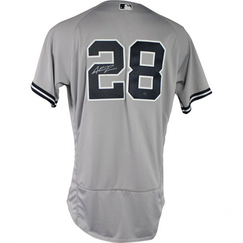 New York Yankees Austin Romine Signed 2018 Road Opening Day Game Used #28 Jersey (3/29/2018)