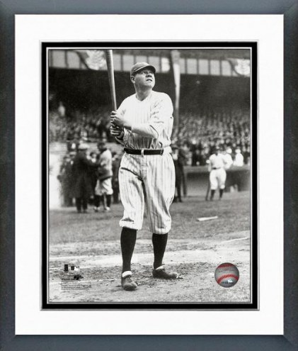 New York Yankees Babe Ruth 1925 Action Framed Photo
