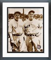 New York Yankees Babe Ruth and Lou Gehrig Framed Photo