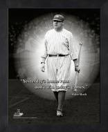 New York Yankees Babe Ruth Home Run Framed Pro Quote