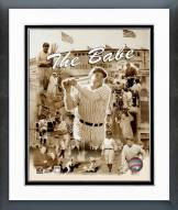 New York Yankees Babe Ruth Legends Of The Game Framed Photo