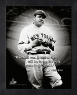 New York Yankees Babe Ruth MLB Framed Pro Quote