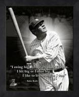 New York Yankees Babe Ruth Framed Pro Quote