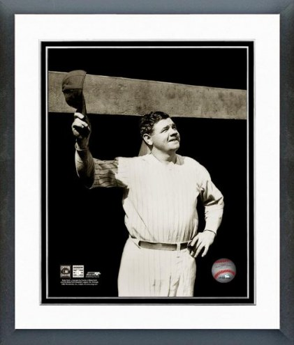 New York Yankees Babe Ruth Tipping Cap Framed Photo