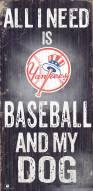 New York Yankees Baseball & My Dog Sign