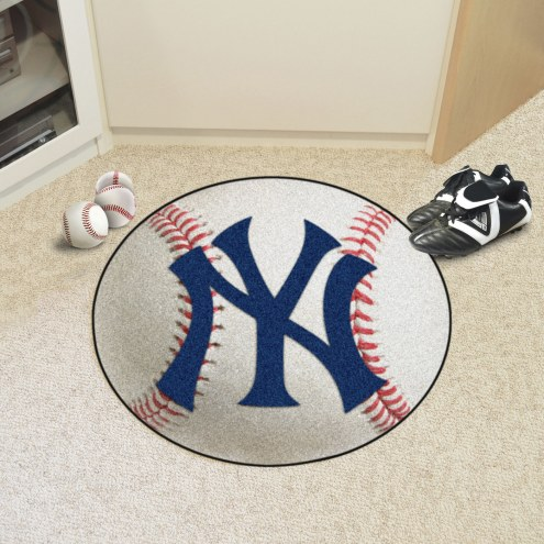 New York Yankees Baseball Rug