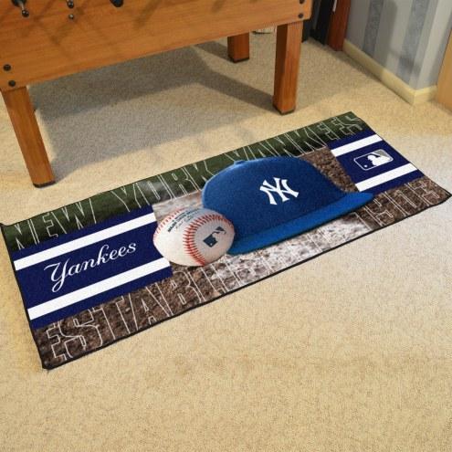 New York Yankees Baseball Runner Rug
