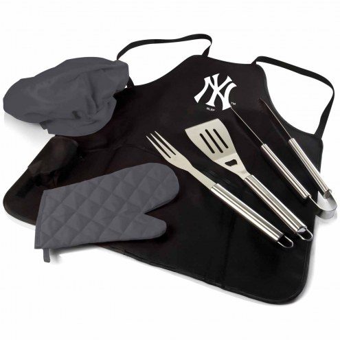 New York Yankees BBQ Apron Tote Set