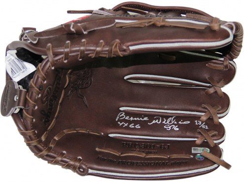 New York Yankees Bernie Williams Signed Rawlings Embroidered Fielding Glove w/ 4x GG