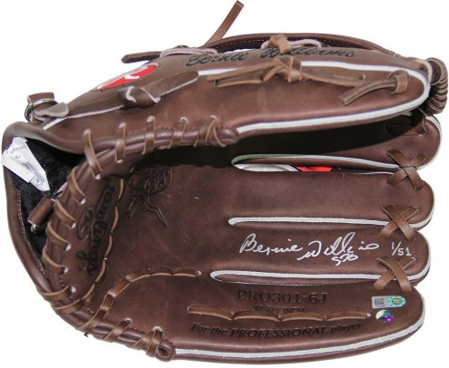 New York Yankees Bernie Williams Signed Rawlings Embroidered Fielding Glove
