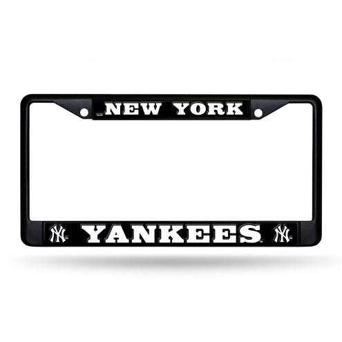 New York Yankees Black Metal License Plate Frame